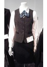 ◇聡明さ溢れるツイード調織り柄ベストの会社用制服