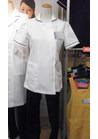 ◇ホワイト×ネイビーがクラシカルな織物素材の医療用制服
