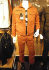 洗練されたシルエット ユーズド風の作業服