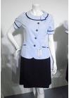 春夏の定番カラー ブルーで涼しげオーバーブラウス事務服