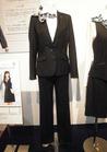 ブラック×ブルー スッキリシルエット*パンツスーツ