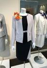 スリットデザインの配色でオトナの女性らしさを☆ワンピースジャケット 事務服受付